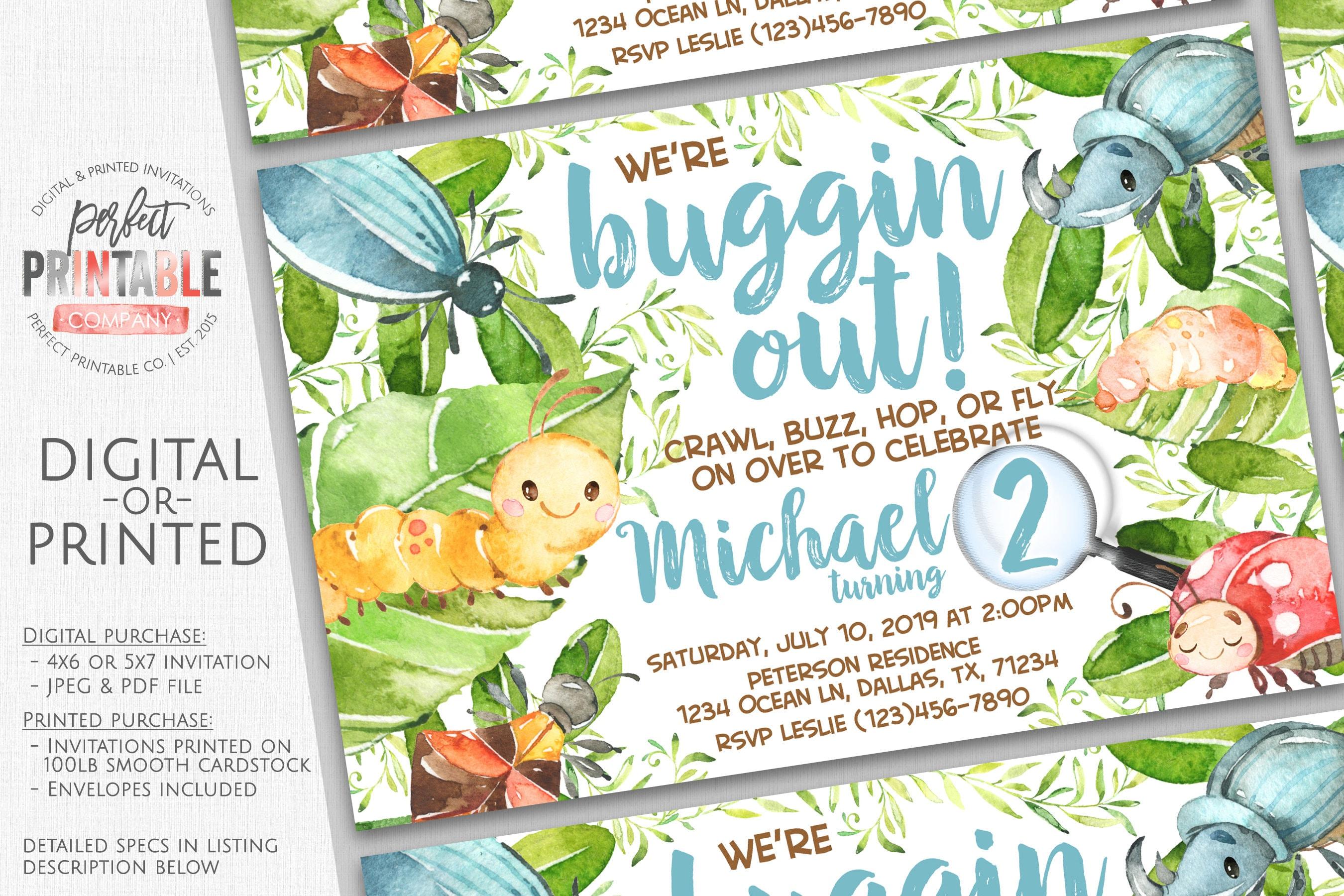 Insect invitation bug invitation insect birthday invitation etsy zoom filmwisefo