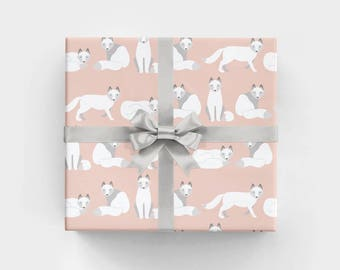 Arctic Fox Wrapping Paper - 3 Flat Sheets by Revel & Co. WS1171