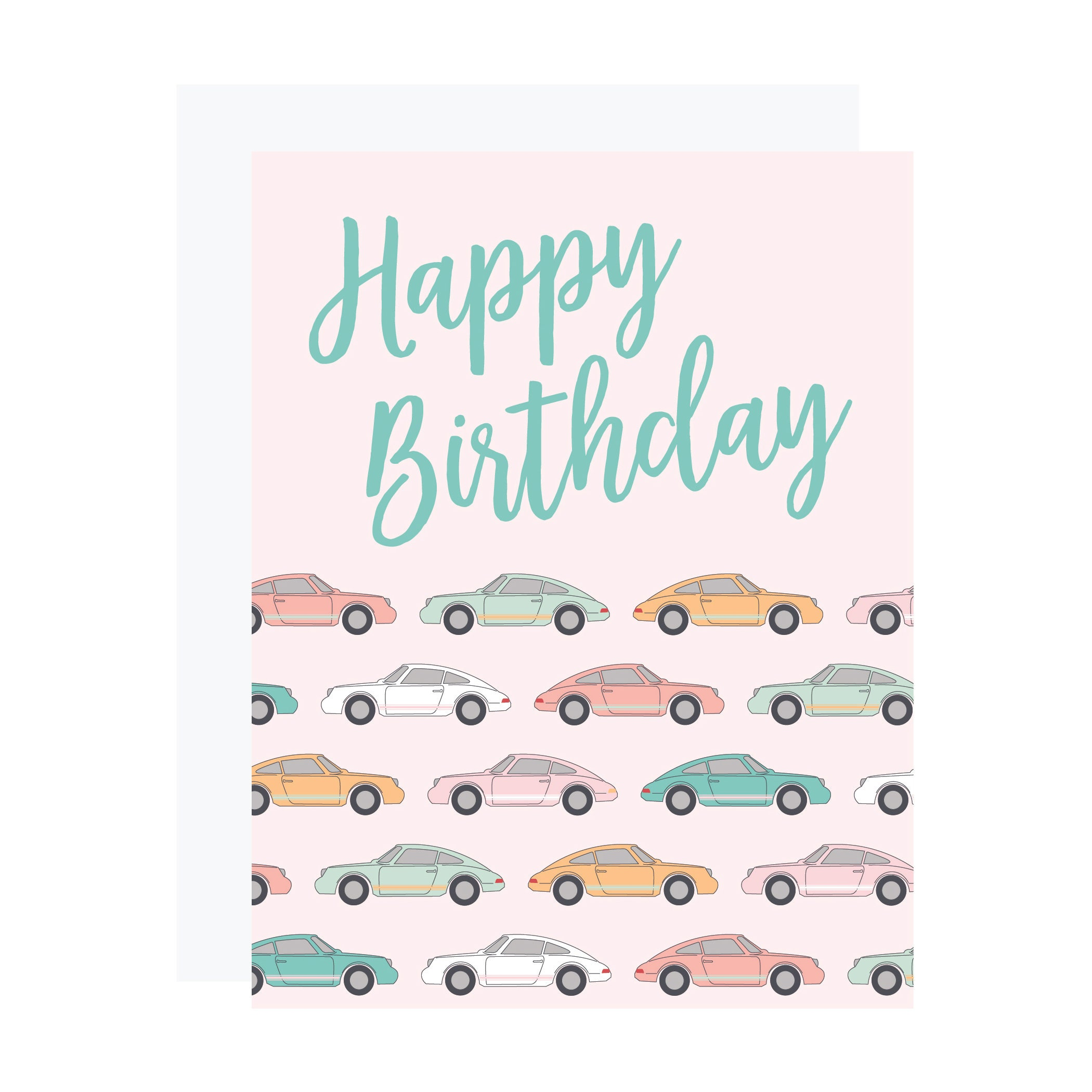 Sports Car Birthday Card Vintage Porsche Birthday Card Pink Etsy