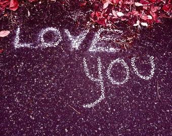 Love You - greeting card