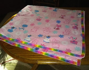 Flannel Baby Blanket, Baby Blanket, Baby Shower Gift, Baby Gift, Flannel Blanket, Rainbow Baby