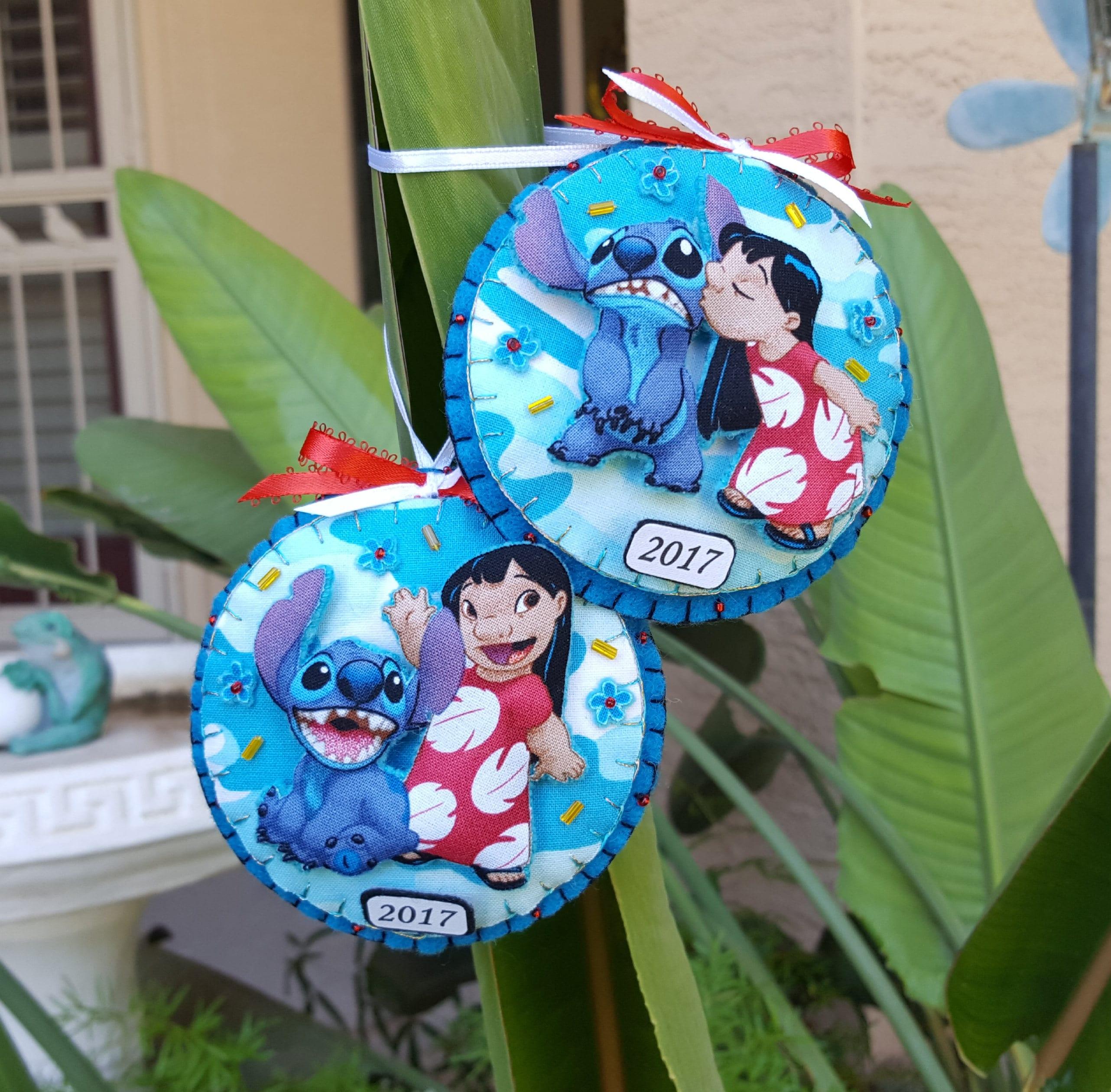 Used Disney Christmas Decorations: Disney Lilo And Stitch Felt And Fabric Ornament-3D