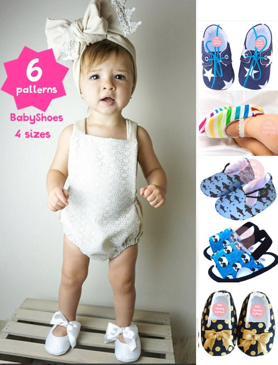 6 Baby Sewing Patterns Baby Shoes Patterns Kids Patterns Etsy