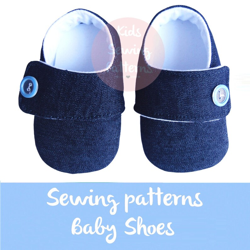 3701df261 Kids sewing pattern PDF   fabric baby booties  newborn shoes