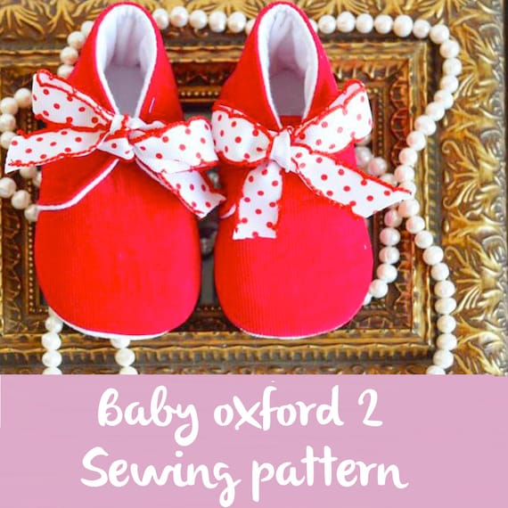 Baby Shoe Pattern Baby Oxford Pdf Sewing Patterns For Etsy