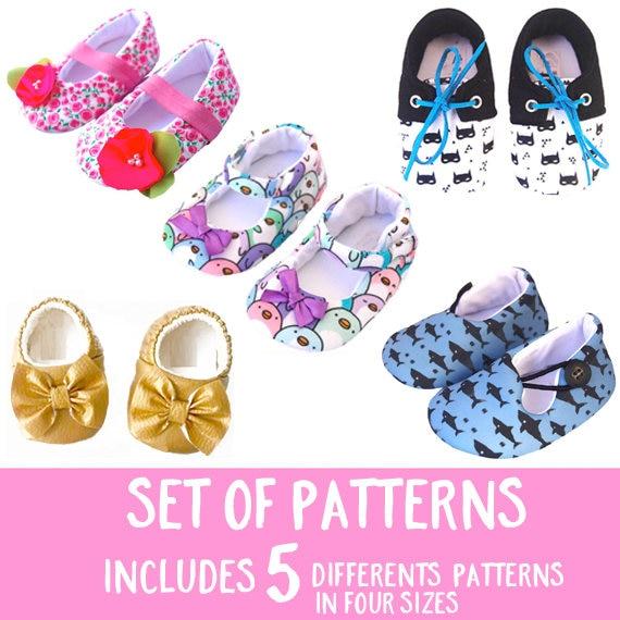 Zapatos de Mary Jane tela Tutorial PDF bebé niña patrón DIY | Etsy