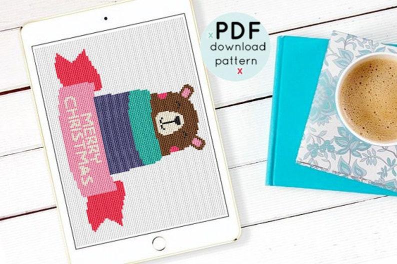 instant Download PDF Cross Stitch pattern,Crochet Graph Pattern Set of 4 cross stitch pattern,Holiday Cross Stitch Pattern,Christmas Decor