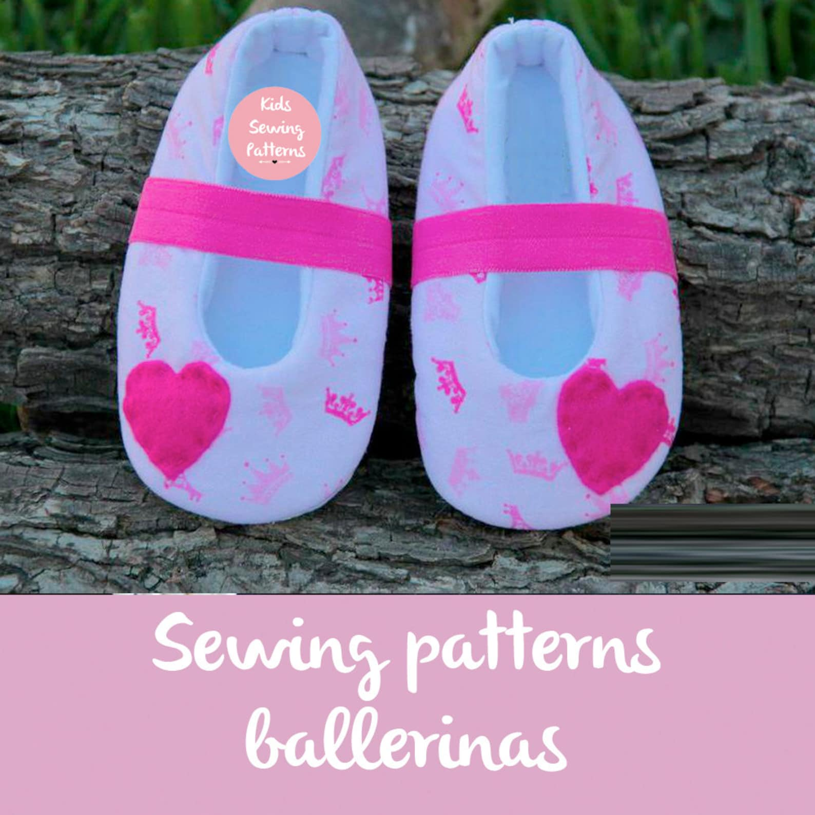 pdf sewing patterns for children/ hearts newborn shoes / newborn shoes baby accessory/ girls flat shoes/ ballet baby shoes/ size