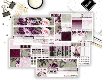 October Monthly Sticker Kit - 163 Planner Stickers for Erin Condren Life Planner Vertical, Plum Paper Planner, Filofax etc.