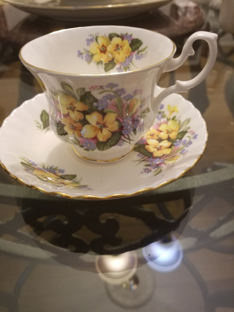 Royal Albert Bone China Summertime Series made in England Cup and Saucer
