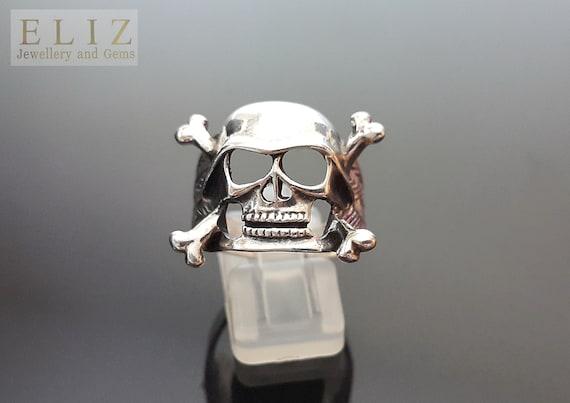 Biker Skull Ornament With Helmet /& Sunglasses Hells Angel Skeleton Gothic