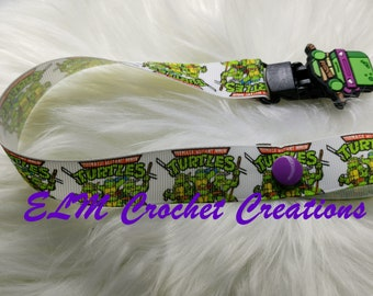 Teenage Mutant Ninja Turtle Donatello Deluxe Pacifier Clip - Ready to ship!  ABDL/DDLG/Littles/AgePlay