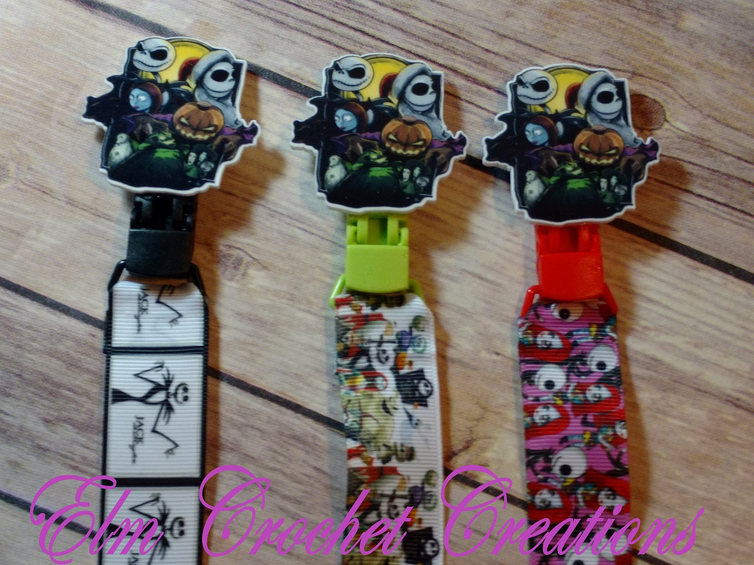 Nightmare Before Christmas Pacifier Clips