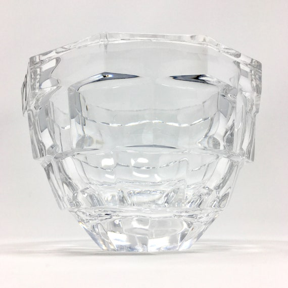 Kosta Boda Crystal Opus Block Pattern Sweden Signed Art Glass Etsy