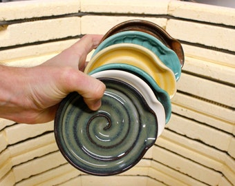 Ceramic Spoon Rest, wheel thrown