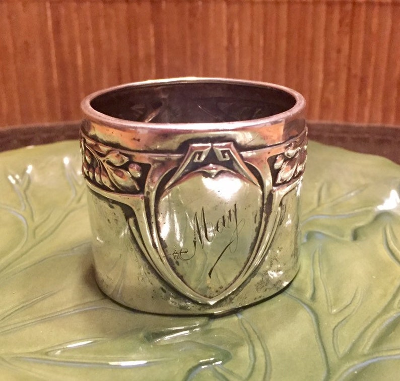 Decorative Arts Antique Silver 800 Germany Napkin Rings