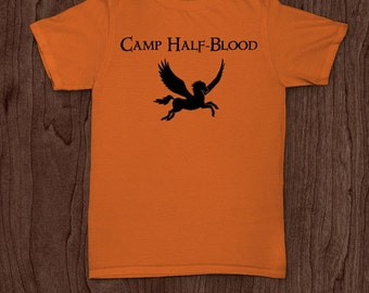30acb794 Camp half blood funny t-shirt tee shirt tshirt percy jackson wings book  movie Christmas kids greek mythology demi god nerd geek fun funny