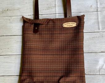 Flap top shoulder bag in rich fall colors