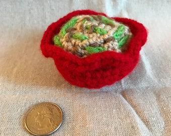 Thanksgiving Green Bean Casserole Crocheted Catnip Toy