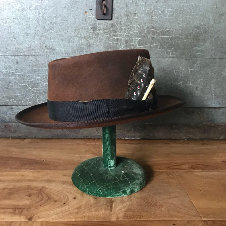 983b968951124 One of a kind hat handmade custom hat wide brim fedora hat