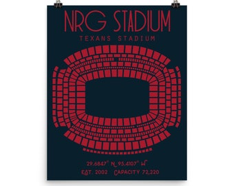 Houston Texans NRG Stadium Poster