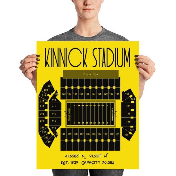 IOWA HAWKEYES Photo Picture KINNICK STADIUM Football Skyline Art 8x10 or 11x14