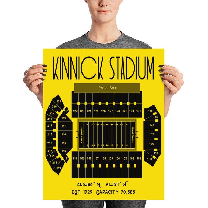 Iowa Hawkeyes Kinnick Stadium Poster Print | 8x10 or 16x20