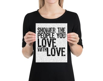 Shower the People You Love with Love | James Taylor Vintage Music Lyrics Print