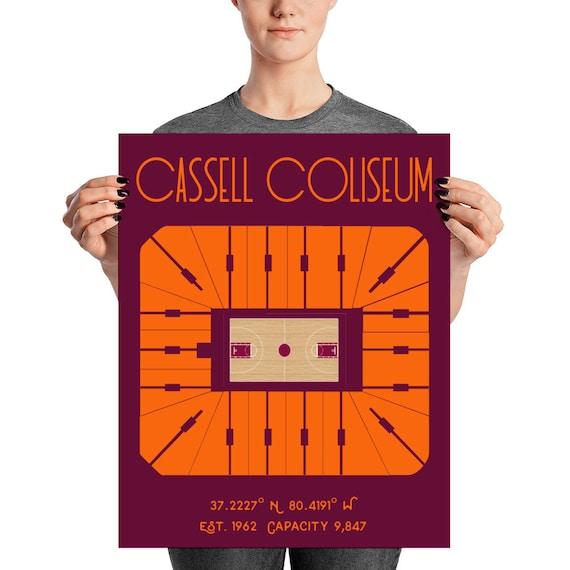 Virginia Tech Basketball Cassell Coliseum Stadium Poster Print