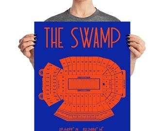 University of Florida The Swamp Stadium Poster Print