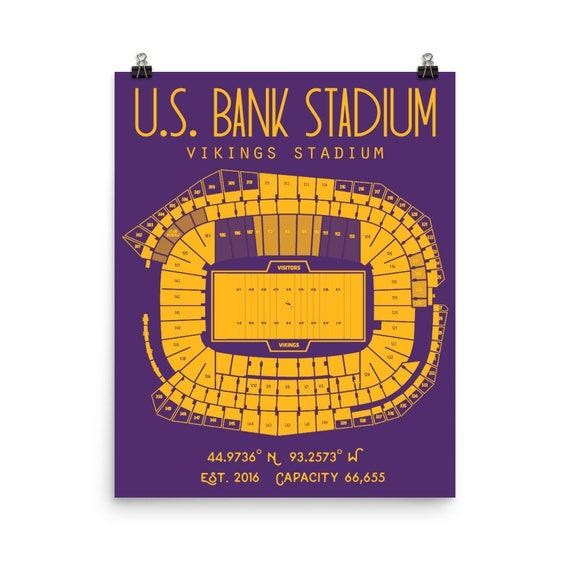 Minnesota Vikings Us Bank Stadium Poster
