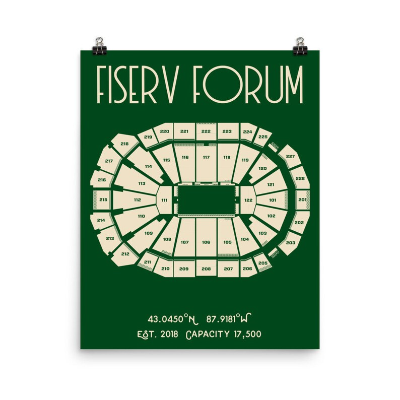 Forum Milwaukee Stade Bucks Fiserv Poster Print b6gYyvf7
