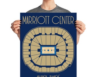 Brigham Young University Basketball  Marriott Center Poster