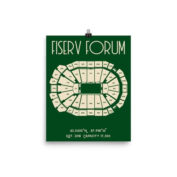 Milwaukee Bucks Fiserv Forum Stadium Poster Print