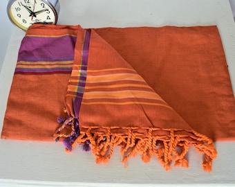 Cloth towel Kitenge Kikoy original fabric African Masai cotton handmade zulu ethnic