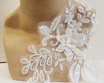 Lace applique dress etsy