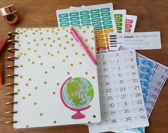 Happy Planner MAMBI Gold Dot Teacher Planner Stickers