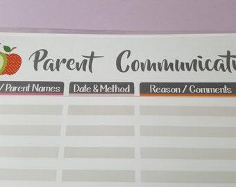 Parent Communication Header