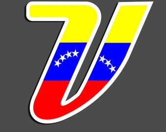 779e59125c9 Venezuela V Tricolor- Flag-Bandera Car sticker