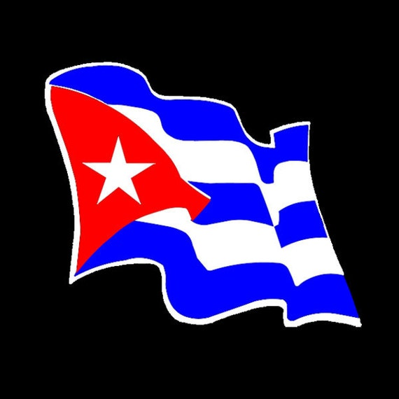 CUBA FLAG VINYL DECAL STICKER MULTIPLE SIZES TO CHOOSE FROM