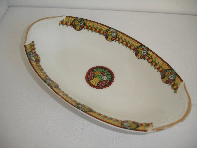 Limoges Dish Ceramic F Legrand /& Cie Gold Rim Trinket  Serving Platter