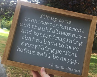 Contentment Quote Etsy
