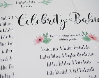 Celebrity Baby - Baby Shower Game