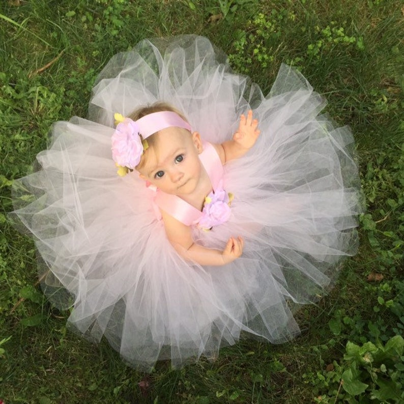 b97b5a096 Blush Pink Tulle Dress Fairytale Tutus Baby Flower Girl Tutu   Etsy
