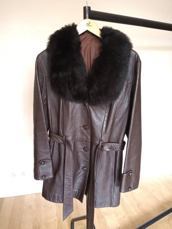 Suede Centre Swear & Wells Brown Leather Jacket wi