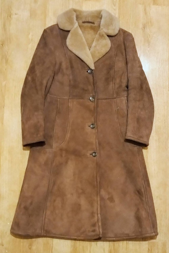Sheepskin Penny Lane Long Coat Jacket