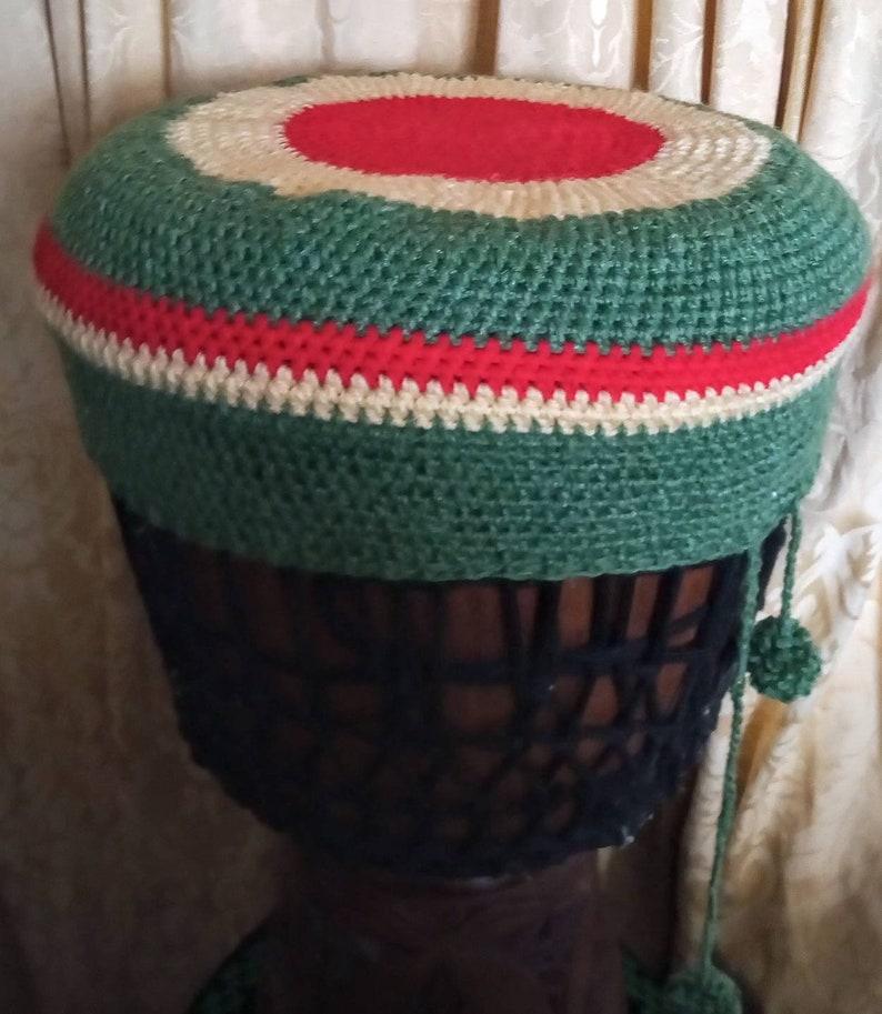 Crochet Djembe Drum Hat Cover