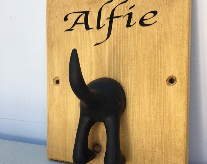 Personalised Wooden Dog Lead Hanger