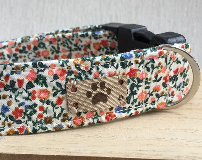 Liberty Floral Dog Collar, Female Dog Collar, Adjustable Dog Collar, Dog Collar, Fabric Dog Collar, Gift for your Pooch, For Dogs