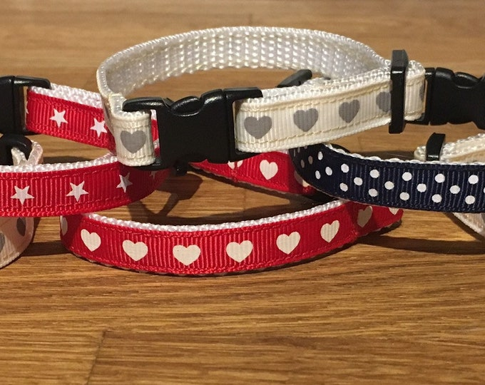 Red Cat Collar, XS Dog Collar, Adjustable Cat Collar, Cat Accessory, Handmade Collar, Gift for cats and dogs